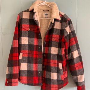 Barbour fleece lined flannel jacket